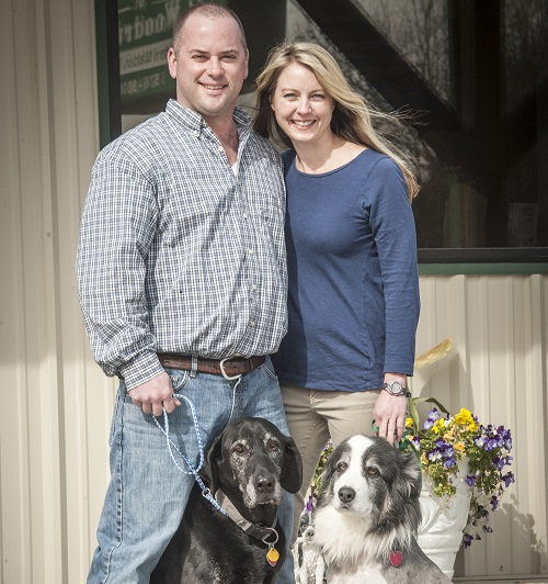 Owners Dr. Merri and Chris Crenshaw and Dogs